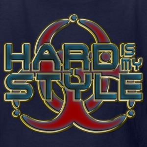 HARD IS MY STYLE - golden outline | children's shi - Kids' T-Shirt