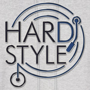 HARDSTYLE DJ - metal look | men's hooded sweatshirt - Men's Hoodie