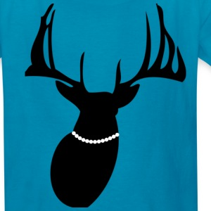 Deer wearing a necklace - Kids' T-Shirt