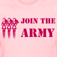 Design ~ Join the Pink Ribbon Army - Women's T-shirt