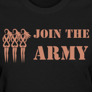 Design ~ Join the Pink Ribbon Army - Women's T-shirt - Pink Glitter