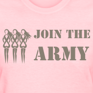 Design ~ Join the Pink Ribbon Army - Women's T-shirt - Camoflauge Print