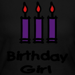 Birthday Girl With 3 Candles Long Sleeve Shirts - Women's Long Sleeve Jersey T-Shirt