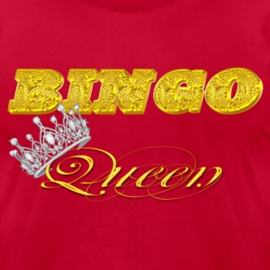bingo queen crown gold brick styles T-Shirts - Men's T-Shirt by American Apparel