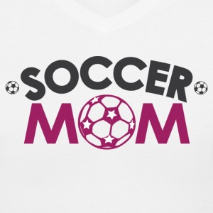Soccer Mom Women's T-Shirts - Women's V-Neck T-Shirt