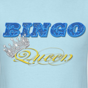 bingo queen crown blue styles T-Shirts - Men's T-Shirt