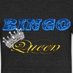 bingo queen crown blue styles T-Shirts - Unisex Tri-Blend T-Shirt by American Apparel