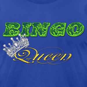 bingo queen crown green styles T-Shirts - Men's T-Shirt by American Apparel