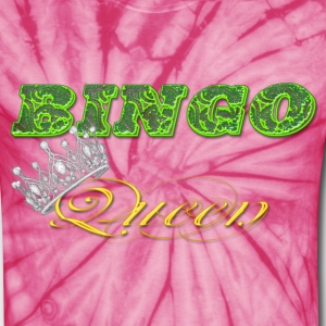 bingo queen crown green styles T-Shirts - Unisex Tie Dye T-Shirt