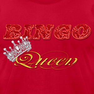 bingo queen crown red styles T-Shirts - Men's T-Shirt by American Apparel