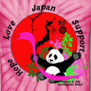 Japan Earthquake Relief Support 3D Panda T-Shirts - Unisex Tie Dye T-Shirt