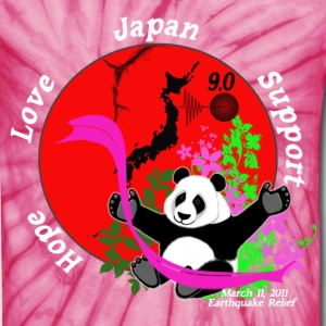Japan Earthquake Relief Support 3D Panda BG T-Shirts - Unisex Tie Dye T-Shirt