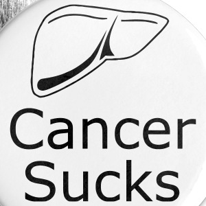 Liver Cancer Sucks - Large Buttons