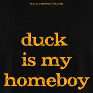 Design ~ Men's FRONT/BACK: CC/duck homeboy (black)