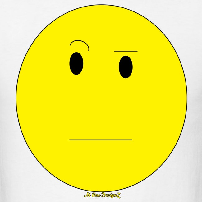 Monedesignz Mens Emoticon Raised Eyebrow Tee Mens T Shirt
