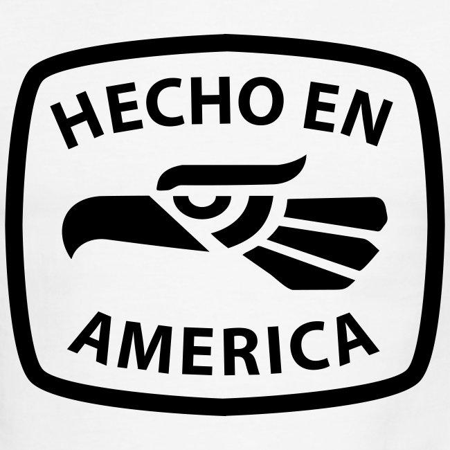 Hecho en America (Black) Men's Ringer T-Shirt by American Apparel