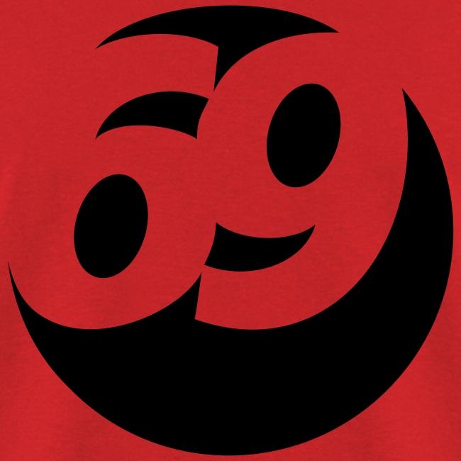 69 (Black) Men's Standard Weight T-Shirt