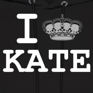 i love Kate - crown  Hoodies - Men's Hoodie