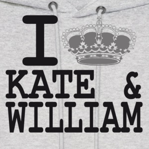 I love Kate and William - crown Hoodies - Men's Hoodie