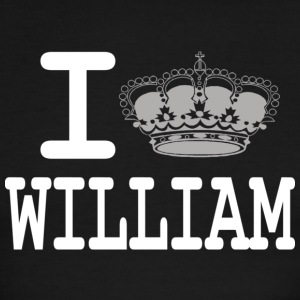 I love William - crown white T-Shirts - Men's Ringer T-Shirt