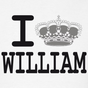 I love William - crown T-Shirts - Men's T-Shirt