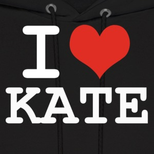 I love Kate - white Hoodies - Men's Hoodie