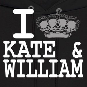I love Kate and William - crown white Hoodies - Men's Hoodie