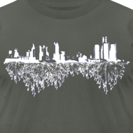 Design ~ Detroit Skyline With Roots Men's American Apparel Tee