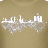 Design ~ Detroit Skyline With Roots Men's Standard Weight T-Shirt
