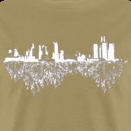 Design ~ Detroit Skyline With Roots Men's Standard Weight T-Shirt