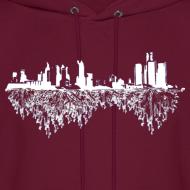 Design ~ Detroit Skyline With Roots Men's Hooded Sweatshirt