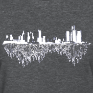 Design ~ Detroit Skyline With Roots Women's Standard Weight T-Shirt