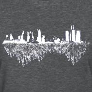 Design ~ Detroit Skyline With Roots Women's Standard Weight T-Shirt