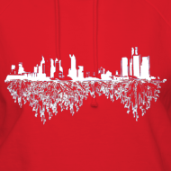Design ~ Detroit Skyline With Roots Women's Hooded Sweatshirt