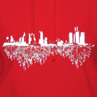 Design ~ Detroit Skyline With Roots Women's Hooded Sweatshirt