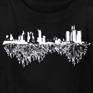 Design ~ Detroit Skyline With Roots Children's T-Shirt