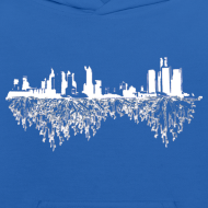 Design ~ Detroit Skyline With Roots Kid's Hooded Sweatshirt