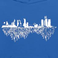 Design ~ Detroit Skyline With Roots Kid's Hooded Sweatshirt