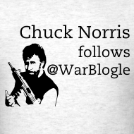 Design ~ Chuck Norris follows @WarBlogle