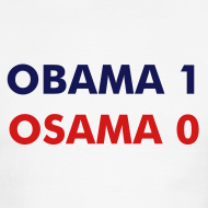 Design ~ OBAMA 1, OSAMA 0 - Men's Ringer T