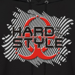 HARD IS MY STYLE - hardstyle stripes | men's hooded sweatshirt - Men's Hoodie