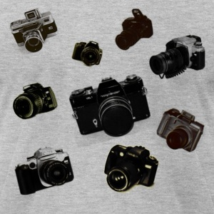 Falling Cameras - Men's T-Shirt by American Apparel