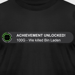 Achievement unlocked we killed Bin Laden T-Shirts - Men's T-Shirt by American Apparel