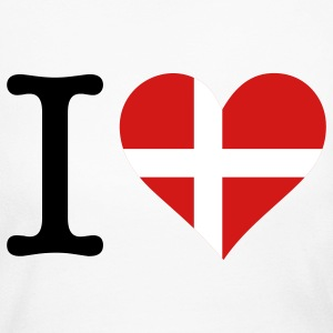I Love Denmark (3c) Long Sleeve Shirts - Women's Long Sleeve Jersey T-Shirt