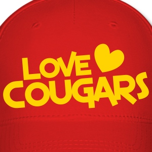 love cougars with heart Caps - Baseball Cap