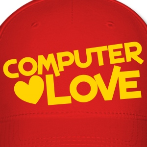 computer love with heart Caps - Baseball Cap
