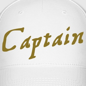 captain in pirate script Caps - Baseball Cap