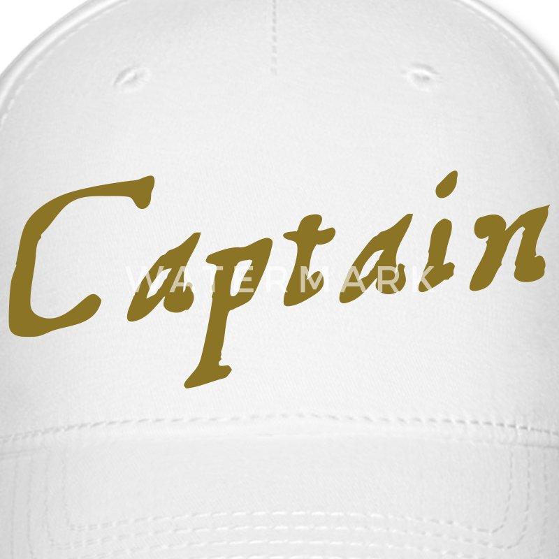 Captain In Pirate Script Baseball Cap Spreadshirt