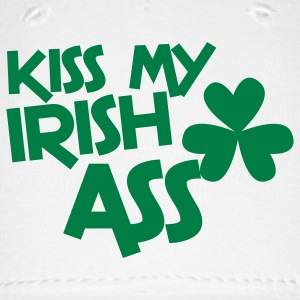 kiss my irish ass clover leaf Caps - Baseball Cap