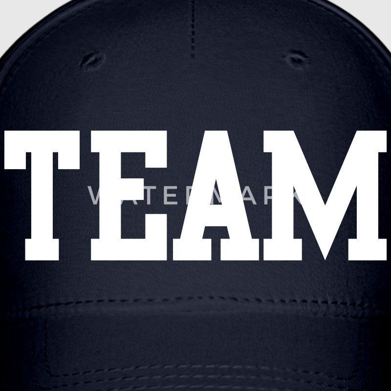 team in college font Caps - Baseball Cap